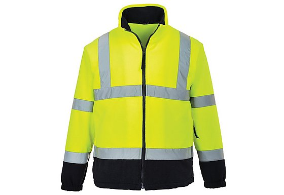 Portwest Hi Vis Two Tone Fleece Jacket Small