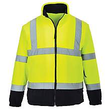 image of Portwest Hi Vis Two Tone Fleece Jacket Small