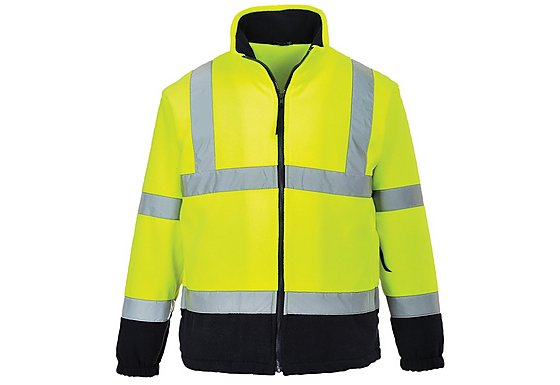 Portwest Hi Vis Two Tone Fleece Jacket Medium