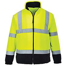 image of Portwest Hi Vis Two Tone Fleece Jacket Medium
