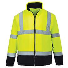 image of Portwest Hi Vis Two Tone Fleece Jacket Large