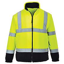 image of Portwest Hi Vis Two Tone Fleece Jacket XL