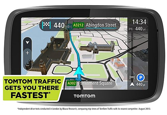 TomTom GO 500 Lifetime Traffic & Maps Sat Nav - UK & ROI