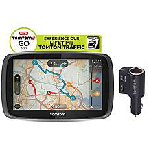 image of TomTom Go 500 Lifetime Traffic & Maps Sat Nav Special Edition - UK, ROI & Europe