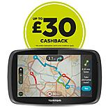 "TomTom GO 600 6"" Sat Nav with Lifetime TomTom Traffic & Maps of full Europe & free carry case"