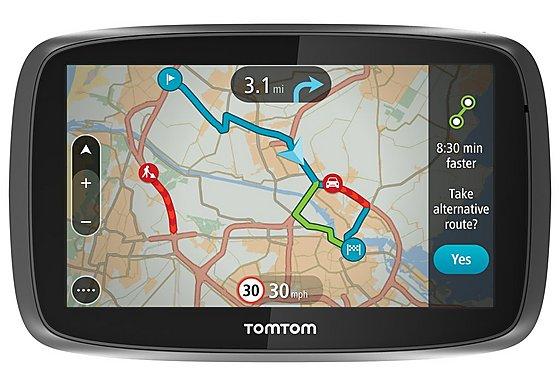 TomTom GO 5000 with Lifetime TomTom Traffic & Maps 5