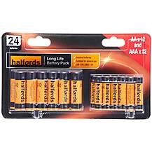 image of Halfords AA & AAA 24 Battery Combo Pack