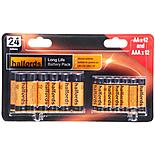 Halfords AA & AAA 24 Battery Combo Pack