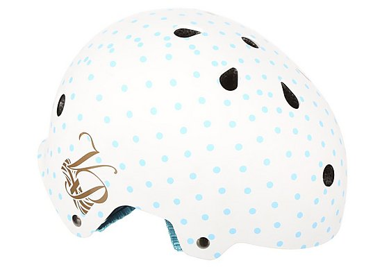 Pendleton Junior Bike Helmet - Blue Polka