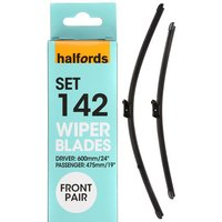 Halfords Set 143 Wiper Blades - Front Pair