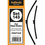 image of Halfords Set 143 Wiper Blades - Front Pair