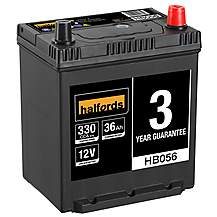 Halfords 3 Year Guarantee HB056 Lead Acid 12V