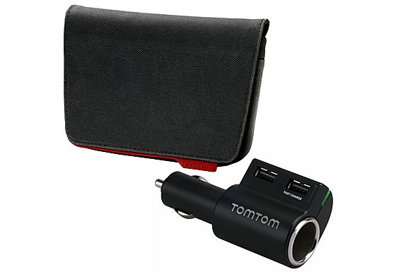 Tom Tom Accessory Bundle Pack - Sat Nav Case & High Speed Charger