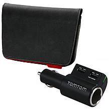image of Tom Tom Accessory Bundle Pack - Sat Nav Case & High Speed Charger