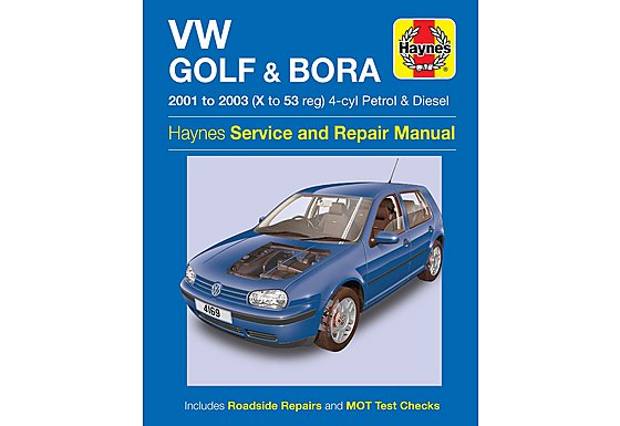 Haynes VW Golf & Bora (01-03) Manual