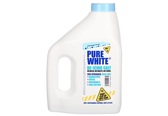 Pure White De-icing Salt 3kg