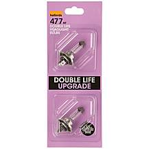 image of Halfords Long Life Headlamp Bulb Upgrade Pack 477 x 2