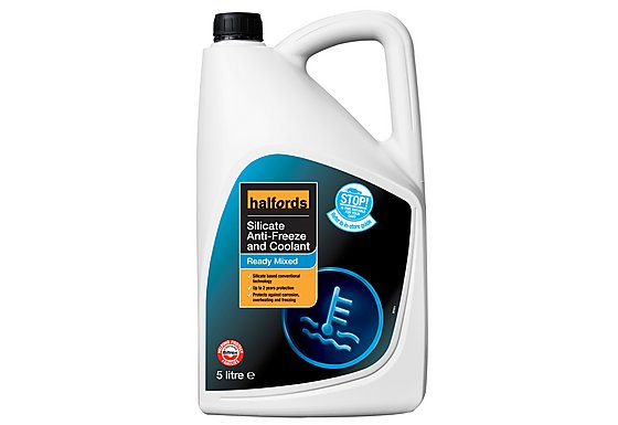 Halfords Silicate Ready Mixed Antifreeze 5L