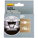 image of Halfords Ambient Lighting Upgrade Pack 6000k - White x 2