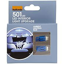 image of Halfords Ambient Lighting Upgrade Pack 6000k - Blue x 2