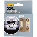 Halfords Ambient Lighting Upgrade Pack 12000k - White x 2
