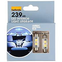 image of Halfords 239 C5W Blue Interior Upgrade Car Bulbs x 2