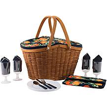 image of Summerhouse Seville 4 Person Wicker Picnic Basket