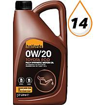 image of Halfords Toyota Eco 0W-20 Oil 2L