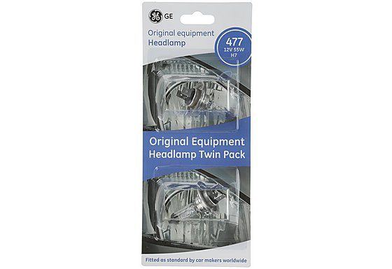 GE Headlamp Bulbs 477 x 2