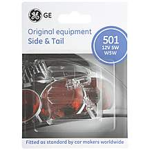 image of GE 501 W5W Car Bulbs x 2