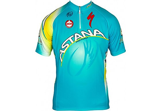 Nalini Mens Astana Short Sleeve Cycling Jersey