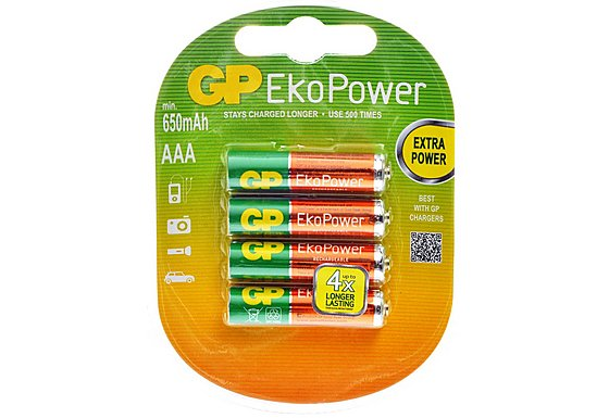 GP EkoPower NiMH AAA 4 Pack