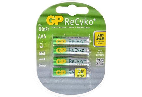 GP ReCyko+ NiMH AAA 4 Pack