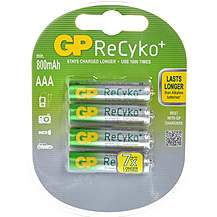 image of GP ReCyko+ NiMH AAA 4 Pack