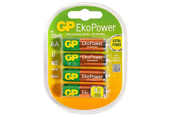 GP EkoPower NiMH AA 4 Pack