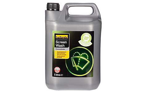 image of Halfords -20 Concentrated Screenwash 5L - Citrus