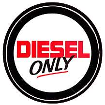 image of Diesel Only Car Sticker - Small