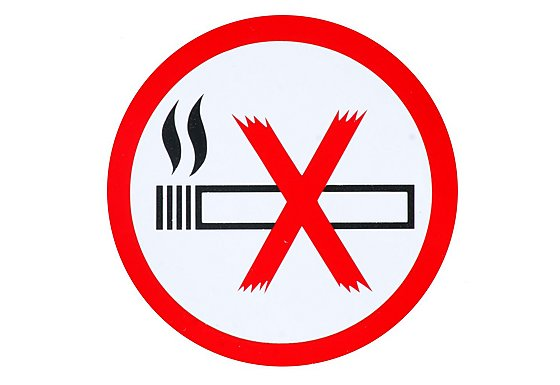 No Smoking Car Sticker - Small