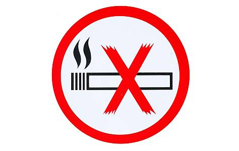 image of No Smoking Car Sticker - Small