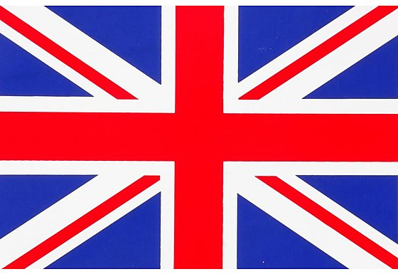 Union Jack Car Sticker - Medium