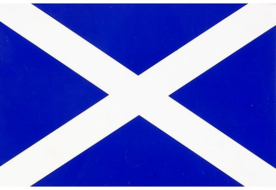 Scotland Flag Car Sticker - Medium