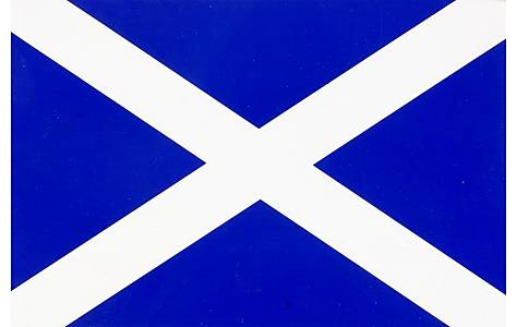 image of Scotland Flag Car Sticker - Medium