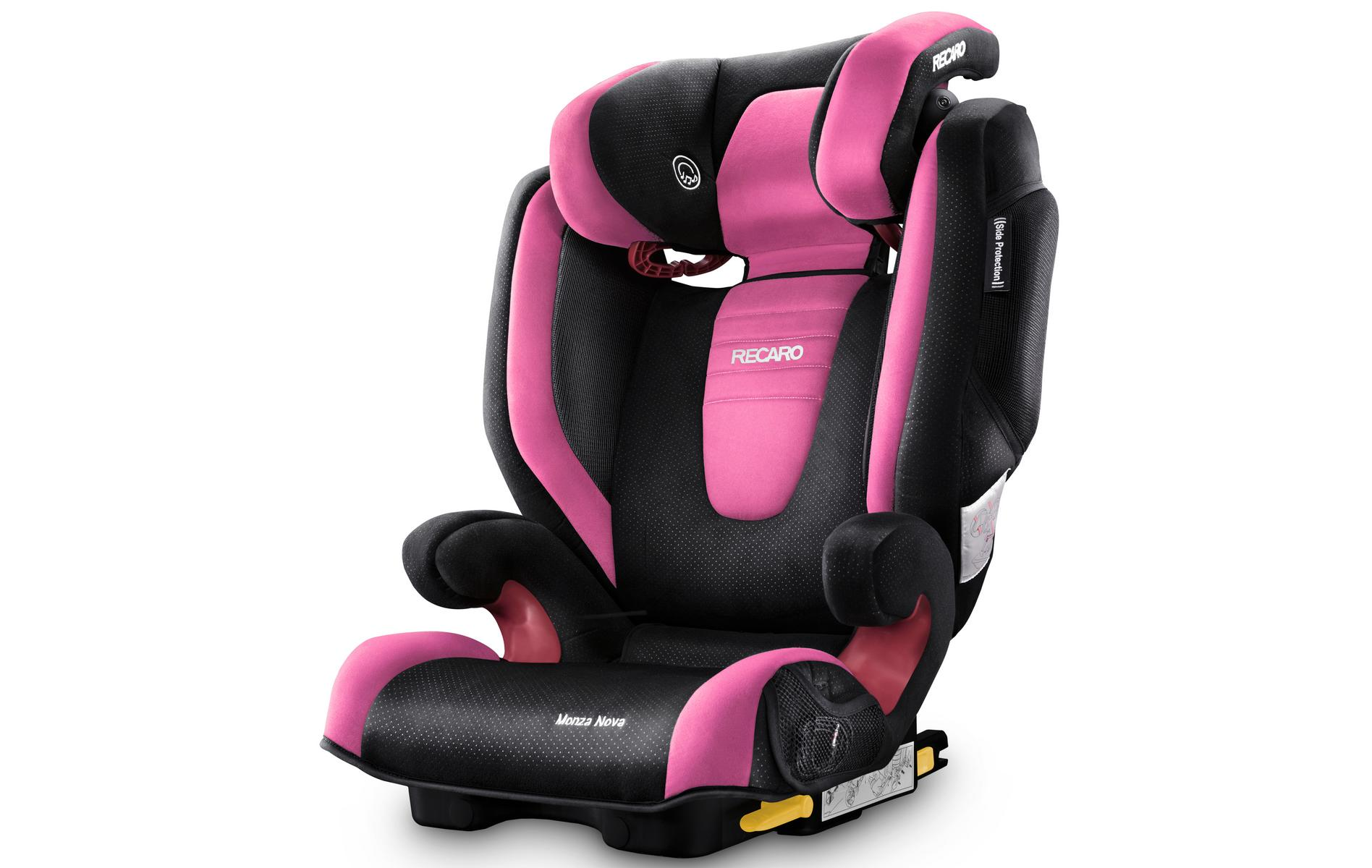 Recaro Monza Nova 2 High Back Booster Seat with SeatFix - Pink