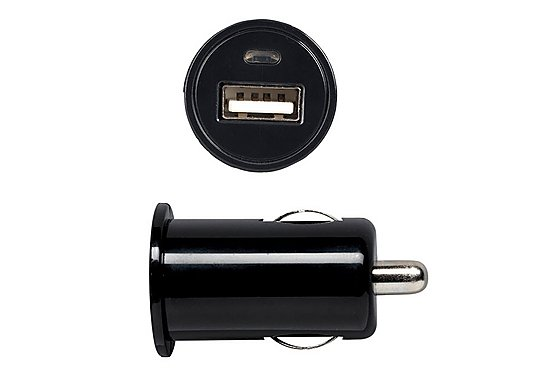 Halfords USB Car Charger Socket 1 Amp - Black