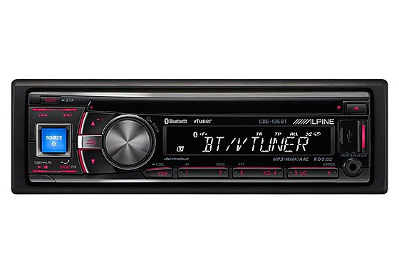 Alpine CDE-135BT Web Radio Ready CD Tuner with Bluetooth