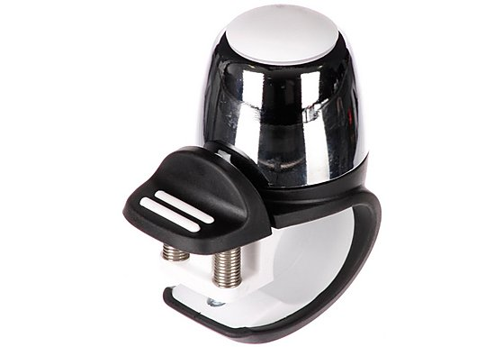Halfords Bike Bell - Chrome/White