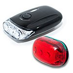 image of Raleigh 3 LED Front and 5 LED Rear Light Set