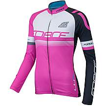 image of FORCE LUX Womens Long Sleeve Cycling Jersey