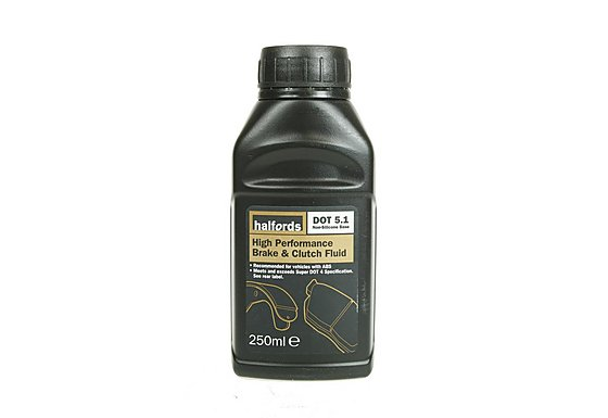 Halfords DOT5.1 High Performance Brake & Clutch Fluid 250ml