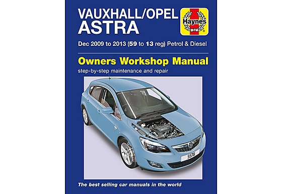 Haynes Vauxhall/Opel Astra Manual (Dec 09 - 13) 59 to 13